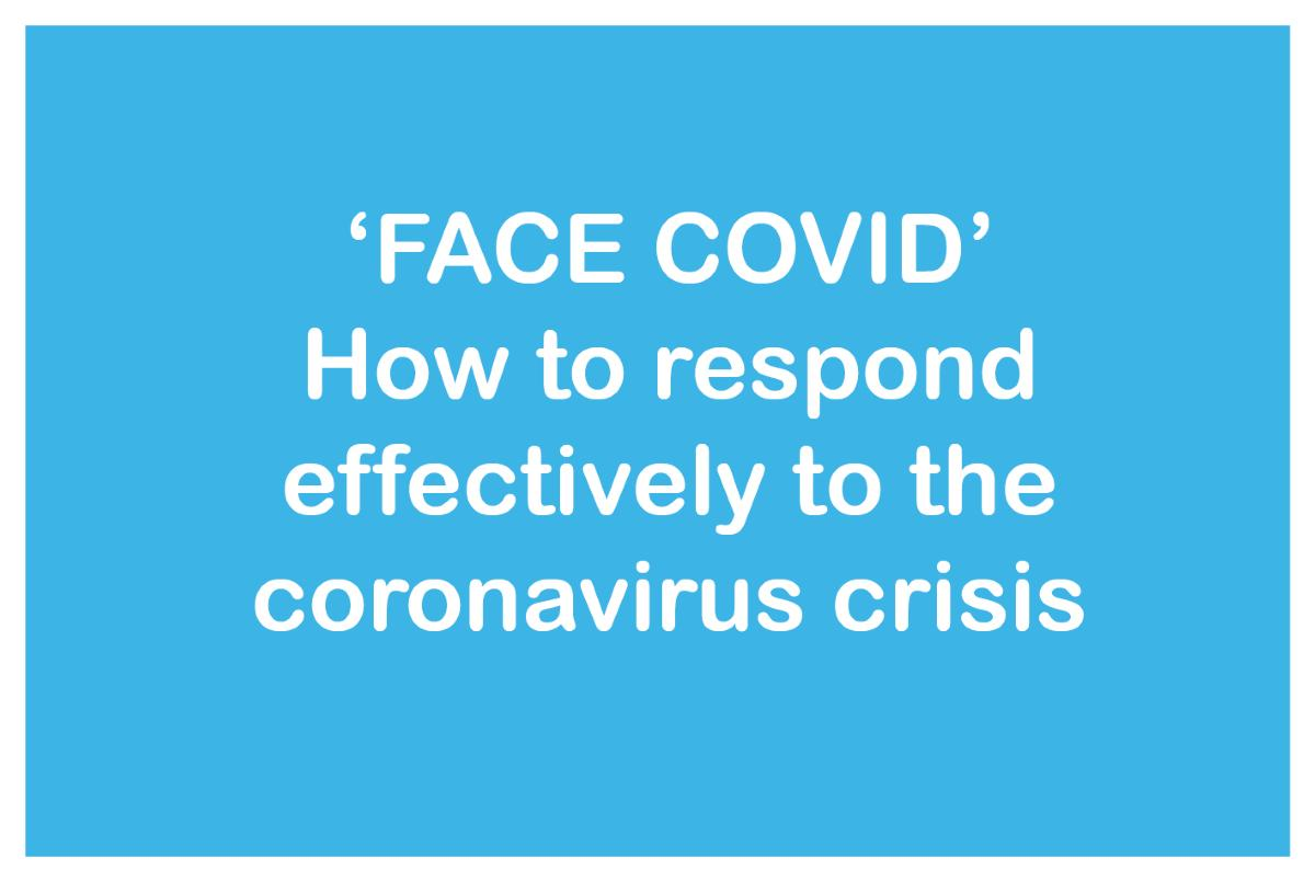 How to effectively respond to coronavirus button